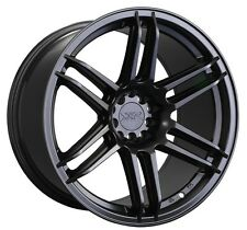 XXR 558 18X8.75 Rims 5x100/114.3mm +19 Black Wheels Fits 350z G35 240sx Rx8 Rx7