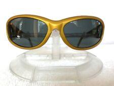 Vintage ARNET Catfish Metallic Gold Gray/Blue Lenses Beautiful & Near Mint!