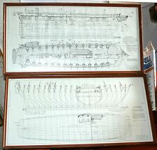 Detailed Ships Plans-USS Savannah Sailing Ship,Naval Frigate,1840-Complete