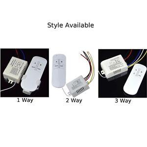 Sans Fil Sur / Arrêt 220V Lampe Télécommande Interrupteur Récepteur Émetteur Kit