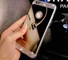 COVER CUSTODIA IN TPU A SPECCHIO con STRASS GIOIELLI per Iphone 6 6s Plus 5 7 8