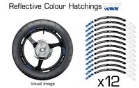 TRIUMPH BLUE REFLECTIVE MOTORCYCLE WHEEL TAPE STICKERS RIM DECALS VINYL