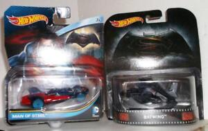 Hot Wheels DC Batman V Superman Batwing & Man Of Steel Vehicle MOC Set