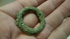 Beautiful massive Bronze Celtic money ring lovely ancient artifact