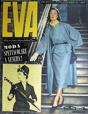 """* EVA N°39/ 22/SET/1951 * Rivista per la donna italiana diretta da """" Sonia """" *"""