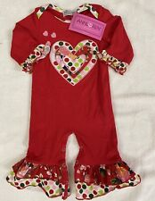 Ann Loren Valentine Baby Girl 6-12 Mo Romper