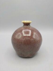 Early Ben Owens Pottery Weed Pot Vase 1986 North Carolina Master Pottery Purple