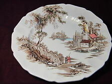 "Johnson Bros England ""THE OLD MILL"" DINNER PLATE 11 5/8"""