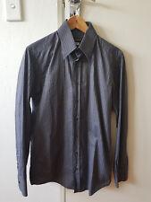 Dolce & Gabanna slim fit grey striped shirt - size 40