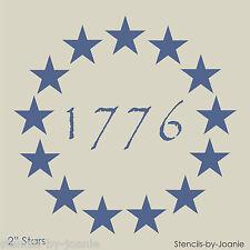 "Americana STENCIL 2"" Stars Patriotic Circle 1776 Primitive Betsy Ross Flag Signs"