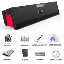 New SARDiNE POWERFUL Portable 10W Wireless Bluetooth V3.0 40mm Stereo Speaker UK