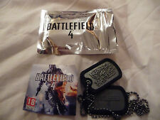 BATTLEFIELD 4 DOG TAGS NEW IN BAG COMPLETE WITH PROMO CODE FREE POSTAGE