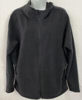 Athleta Womens Hoodie Sweatshirt Size Large Black Full Zip Jacket Pockets