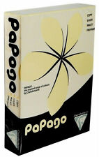 CREAM 120 gsm A4 PAPAGO tinted printer copier paper x 250 sheets - MULTI LISTING