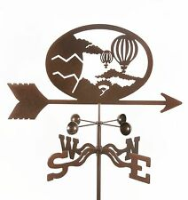 Hot Air Balloon Weathervane - Ballooning Weather Vane - with Choice of Mount