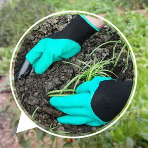 Green Digging Gloves Garden Planting Outdoor ABS Plastic Claws Gardening Gloves