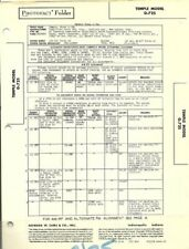 1948 TEMPLE G-725 PHONOGRAPH RADIO SERVICE MANUAL DIAGRAM PHOTOFACT SCHEMATIC