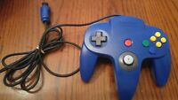Nintendo 64 Solid Blue Controller OEM NUS-005 for N64 Console Video Game System
