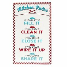 Kitchen Rules Embossed Metal Sign