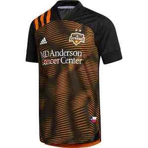 adidas Men's Authentic MLS Houston Dynamo Orange Crush 2020 HTX 15 Jersey $140
