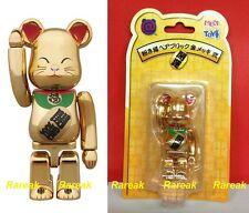 Medicom Bearbrick 2014 Skytree Lucky Cat Neko 100% Metallic Gold Be@rbrick 1pc