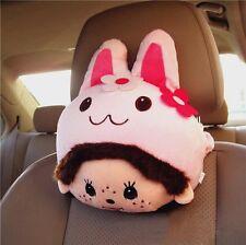KT126 Cute MOMO Rabbit Car Seat Head Cushion Pillows Neck Rest Pillows ~1pc~