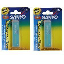 SANYO KF-A650 Rechargacell Slim Battery 650mAh 1000 Cycles 2 Pack Made in Japan