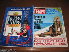 RIVISTA TEMPO 1969/49=PATTY PRAVO=FRED KNUCHEL=UMBERTO ORSINI=GENOA CALCIO=