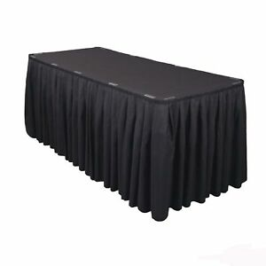 6 Polyester Table Skirts 21ft Banquet Round Table Skirting 3 Colors Made USA