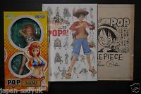"""JAPAN One Piece """"Portrait.Of.Pirates"""" Guide Book (with NAMI Figure & Oda's card"""