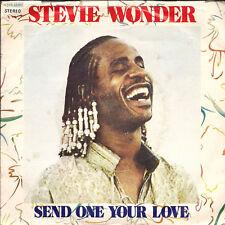 "Stevie Wonder Send One Your Love Italian 45 7"" sgl +Pic Slv Tamla Motown"
