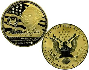 GIGANTIC GEORGE WASHINGTON COMMEMORATIVE COIN PROOF VALUE $199.95