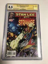 Stan Lee Meets Doctor Strange (2006) # 1 (CGC SS 8.5 WP) Signed Stan Lee