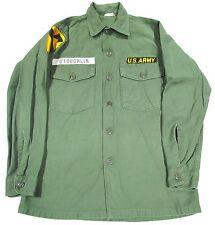 Vintage Vietnam War 1966 1st Cavalry OG Sateen Utility Shirt 14 1/2