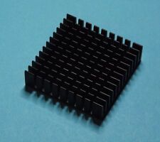 Aluminium Heatsink Kühlkörper schwarz black 40x40x11mm Alu Kühler Cooler