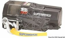 SUPERWINCH Marine Boat Winch 12V 1600W 384lx220dx152h mm 22.2kN + 15.2 m Cable