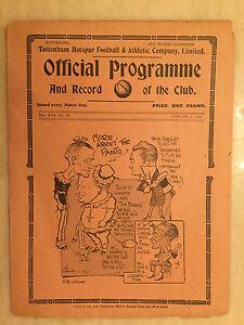 1937/38 LONDON COMBINATION: TOTTENHAM HOTSPUR v  BOURNEBOUTH & BOSCOMBE (RARE)