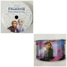 """Disney Frozen Craft Ribbon Princess Anna New In Package 1.5"""" x 9 ft Blue  Purple"""