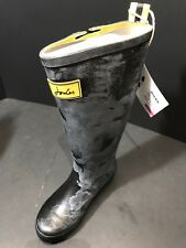 Joules Black Rubber FieldWelly Rain Boots Womens Size US 6 M/ EU 37 New