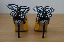 Ladies Shoes Size JOJO CAT Butterfly Heels Yellow Black Party Size 37 UK 4