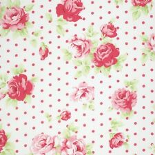 MASSIVE REMNANT FreeSpirit Lulu Roses LILY Cotton Fabric-White-Approx 114cmx0.5M