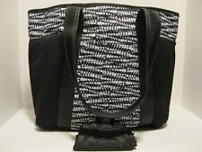 Ideology $70 NWT Active Shopper Tote Black White Geo Print Zip Close Shoe Pouch