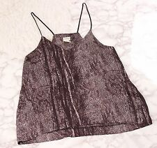 HM Conscious collection cami top snakeskin black white tank blouse size 12