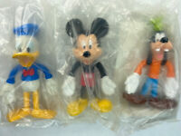 "Disney Kellogg's Mickey Mouse Goofy Donald Duck 4"" Poseable Bendable Figures New"