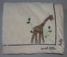 Koala Baby White Giraffe Blanket Sweet Little Baby Minky Soft Boy Girl