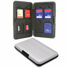 16 Slots Aluminum 8x SD Micro SD Memory Card Protecter Box Storage Case Holder
