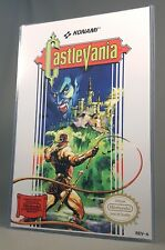 "CASTLEVANIA NES POSTER w/ Top Loader Video Game 17"" Box Art Restoration Nintendo"