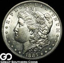 1883-S Morgan Silver Dollar, Outstanding KEY Date, Very PQ Choice BU++, Blazer!