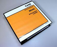 Case W24c Articulated Loader Service Technical Manual Repair Shop In Binder