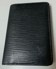 "LOUIS VUITTON POCKET ORGANIZER EPI LEATHER  ""BLACK"""
